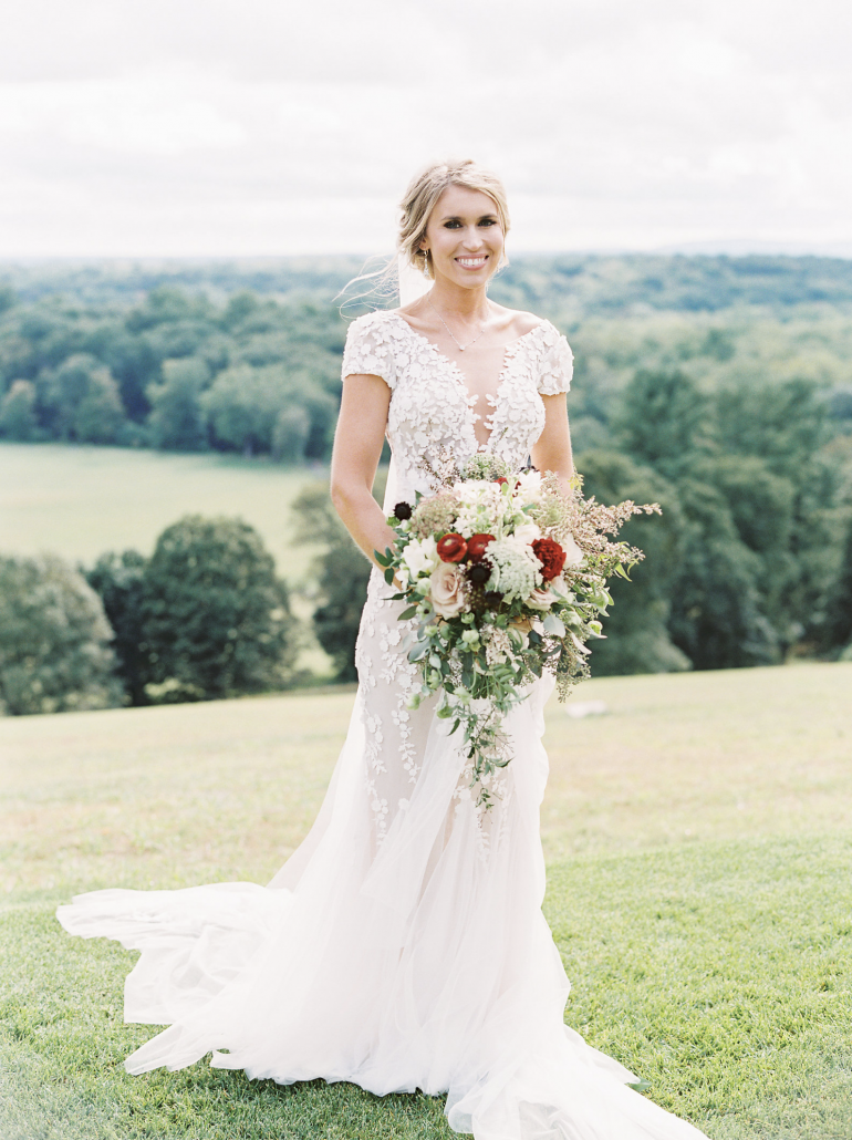 Kate & Chase Wedding - Bridal Bouquet 3 - Mansion at Natirar - by Sally Pinera