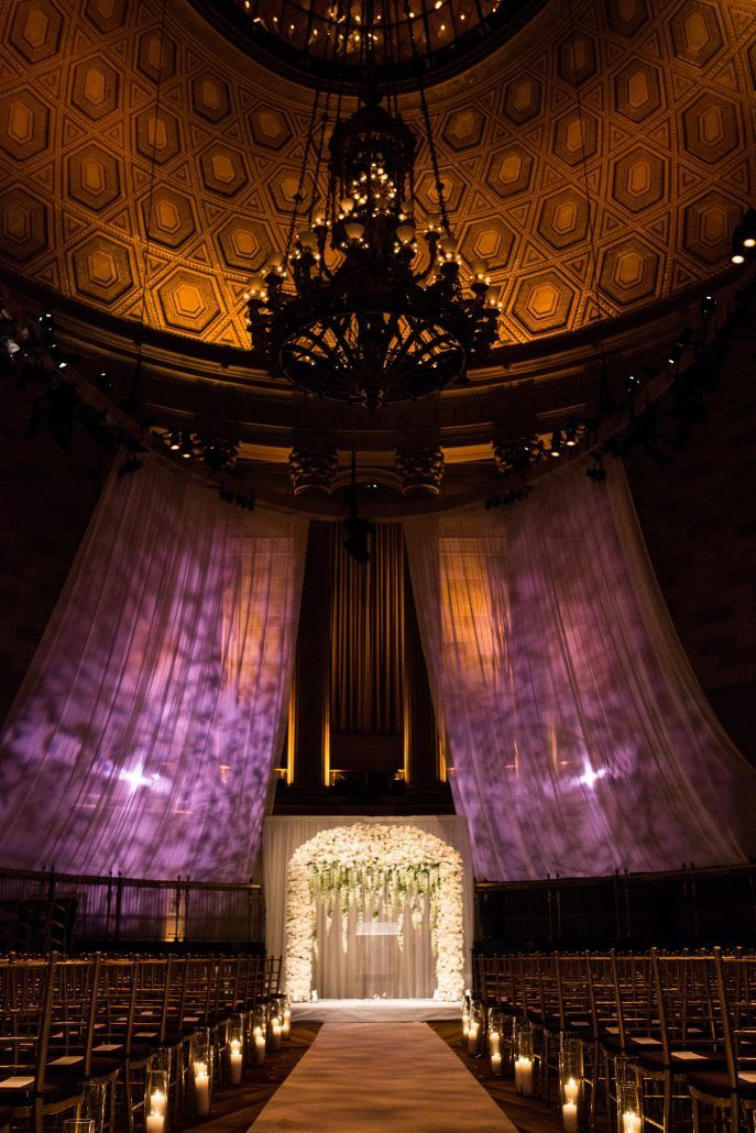 Sunita & Daren Wedding - Ceremony Arch - Gotham Hall NYC - by Kirra Cheers Photography