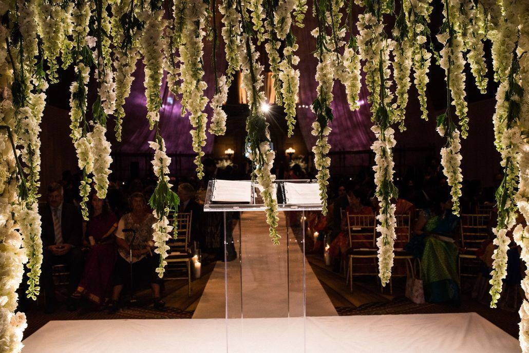 Sunita & Daren Wedding - Delphinium Ceremony Arch - Gotham Hall NYC - Kirra Cheers Photography