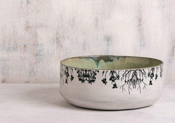 Minimalist Ceramic Serving Bowl - via pinterest.com