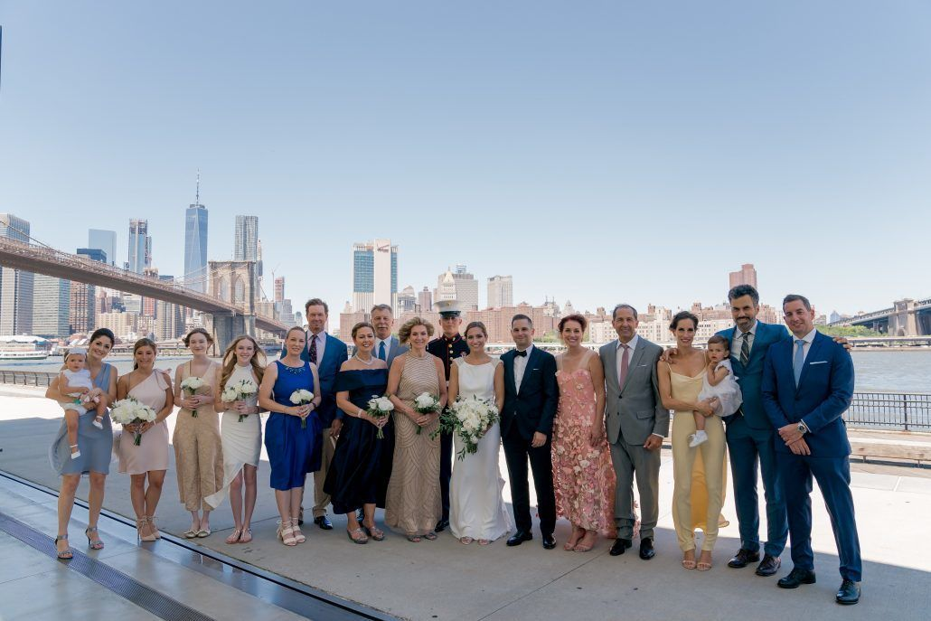 Aerin and Steven Wedding - Wedding Party Family Portrait - 26 Bridge Brooklyn - Susan Shek Photography