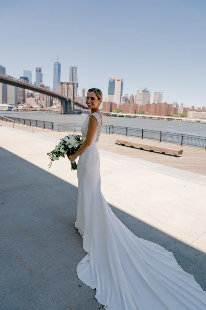 Aerin and Steven Wedding - Bride Bouquet - 26 Bridge Brooklyn - Susan Shek Photography