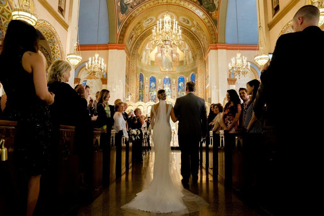 Aerin and Steven Wedding - Bride Father Ceremony - Holy Trinity Cathedral Manhattan - Susan Shek Photography