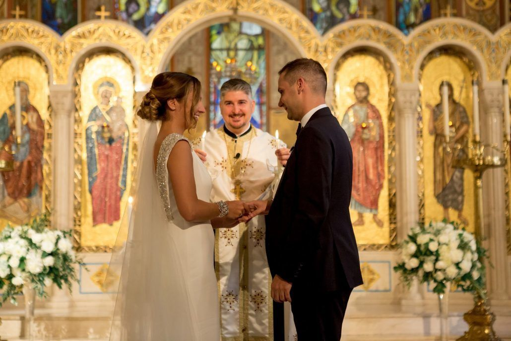 Aerin and Steven Wedding - Bride Groom Ceremony - Holy Trinity Cathedral Manhattan - Susan Shek Photography