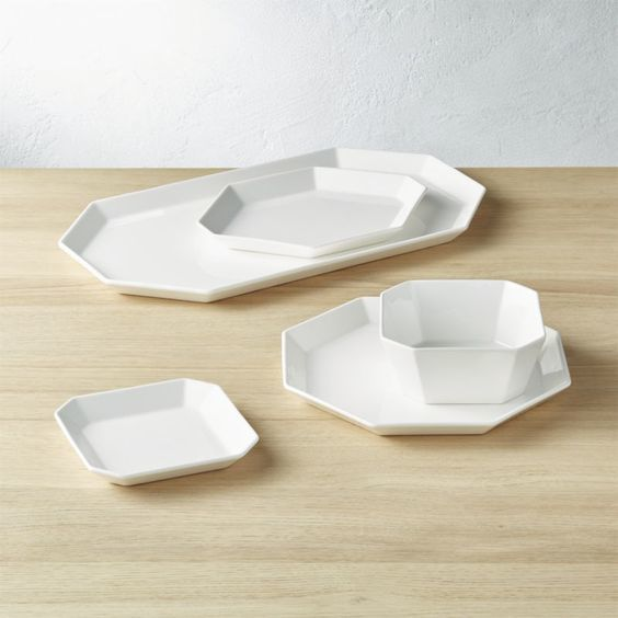 Geometric Serving Dishes - via cb2.com