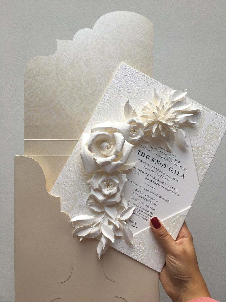 The Knot Gala Invitation - Commissioned Design by Ceci New York - courtesy of Ceci New York