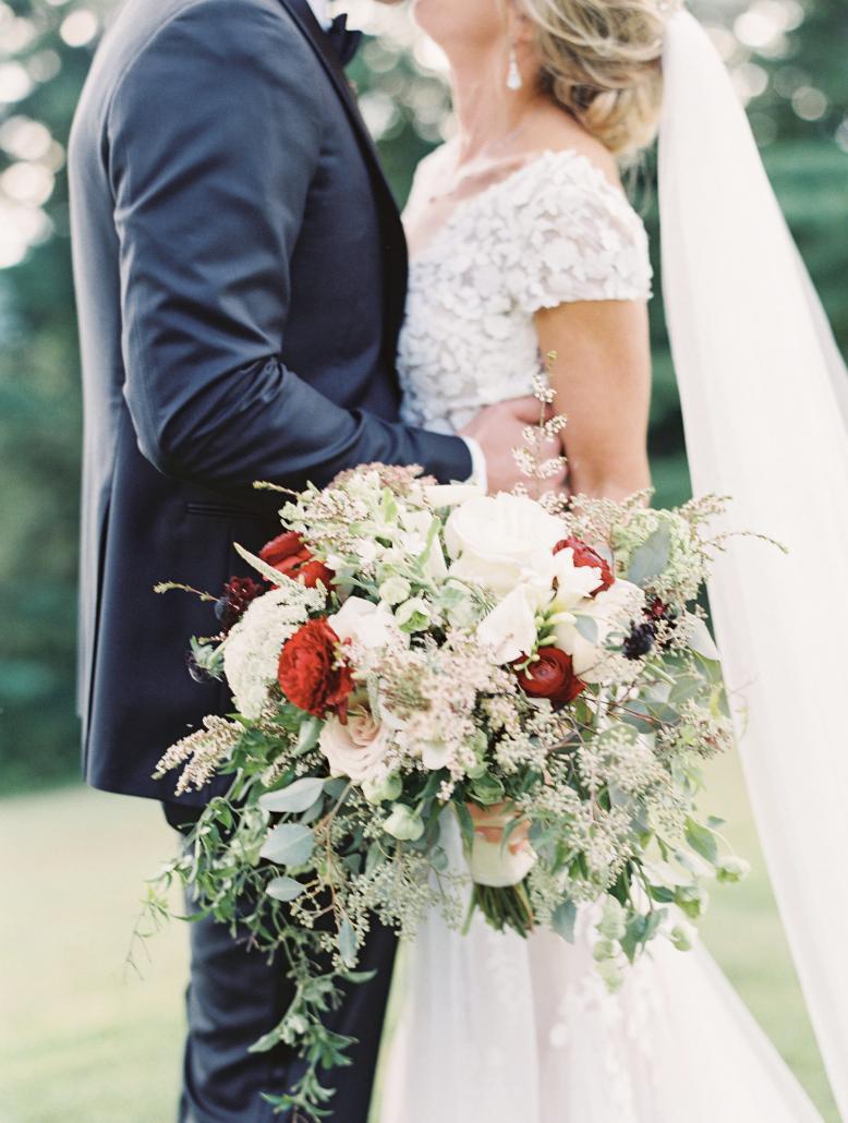 Kate & Chase - Bridal Bouquet - Mansion at Natirar - by Sally Pinera