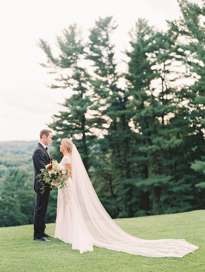 Kate & Chase - Mansion at Natirar - by Sally Pinera