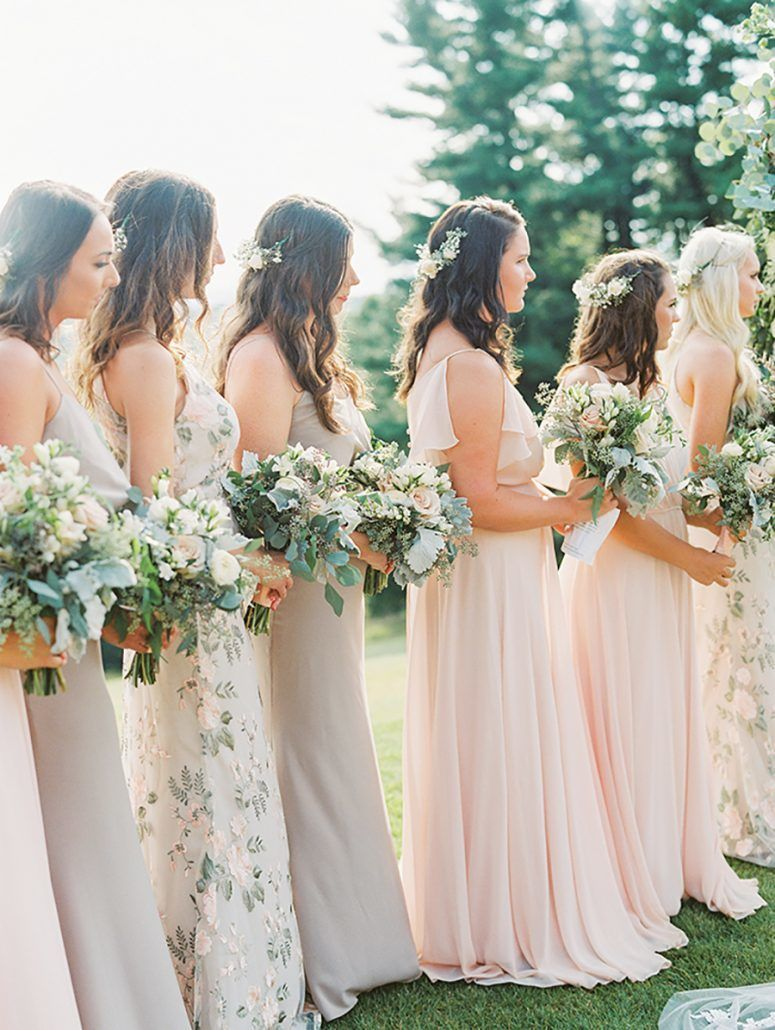 Kate & Chase Wedding - Bridesmaids - Mansion at Natirar - by Sally Pinera