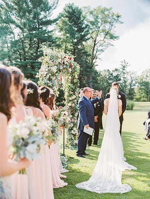 Kate & Chase Wedding - Ceremony - Mansion at Natirar - by Sally Pinera