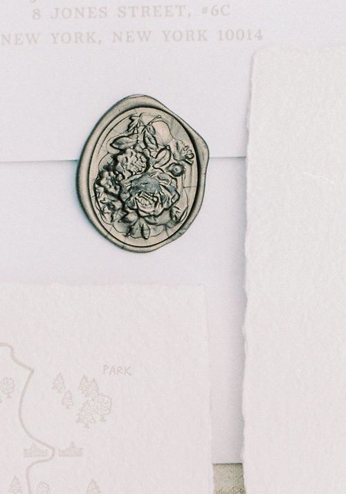 Kate & Chase Wedding - Wax Seal - Mansion at Natirar - by Sally Pinera