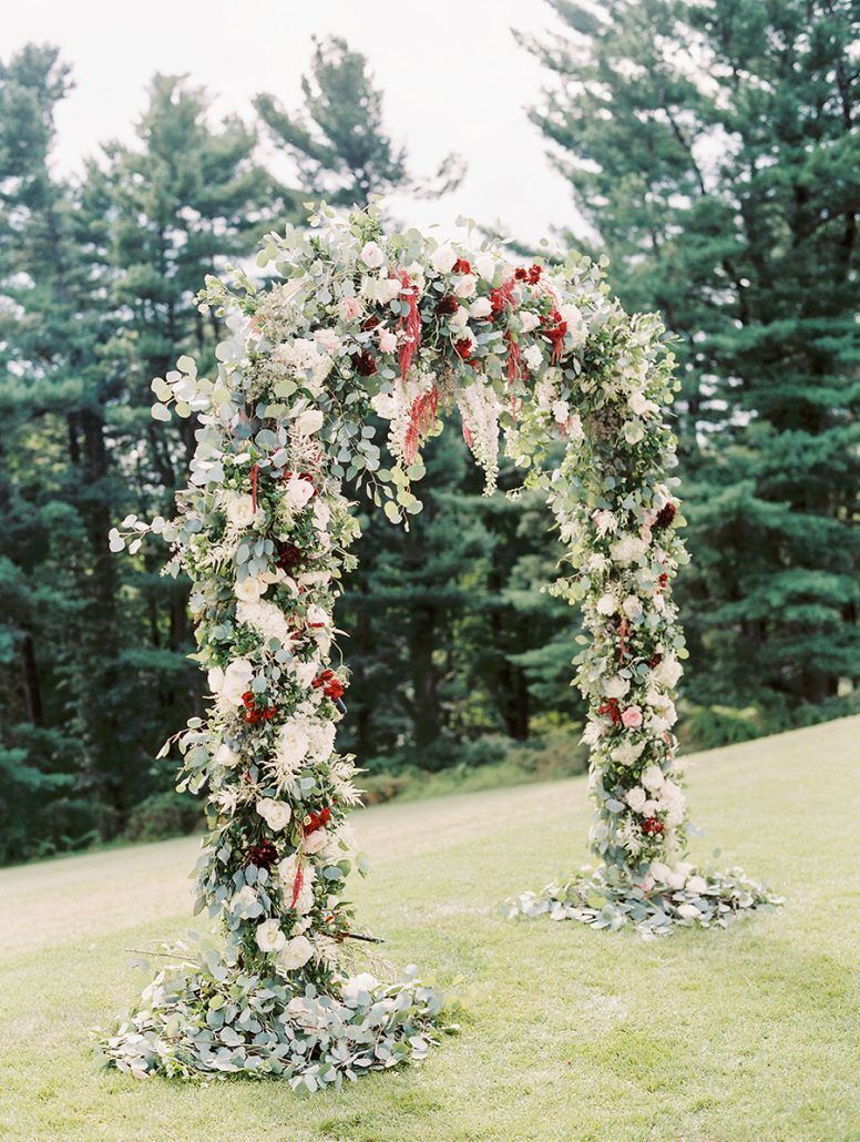 Kate & Chase - Wedding Arch - Mansion at Natirar - by Sally Pinera