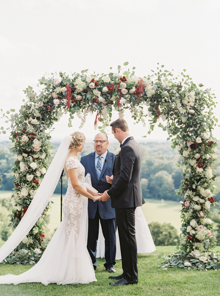 Kate & Chase Wedding - Wedding Arch - Mansion at Natirar - by Sally Pinera