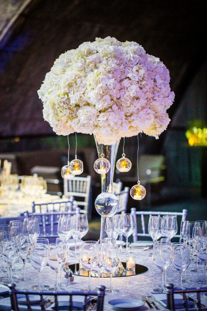Madalyn & Jonathan Wedding - High Centerpiece - Guastavino's - by Joshua Zuckerman