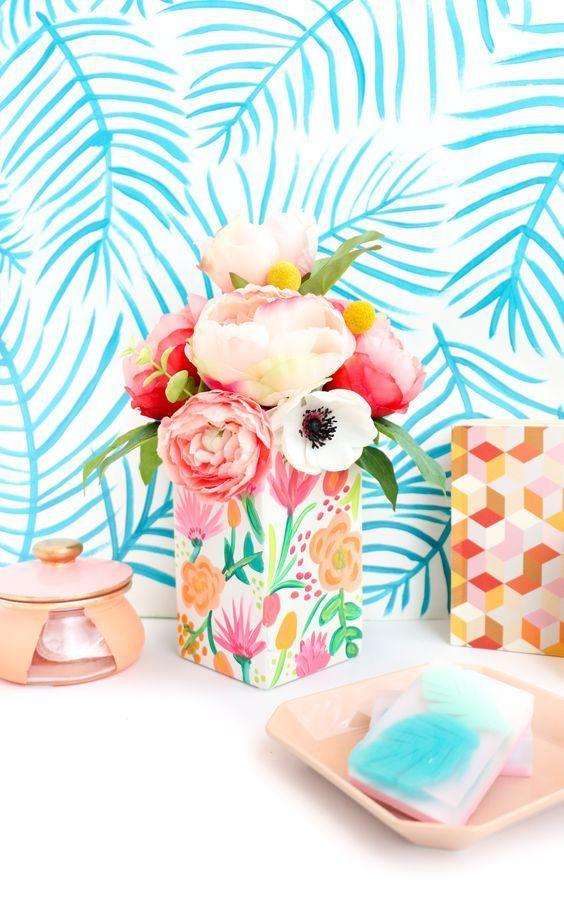 hand painted vase - via abeautifulmess.com