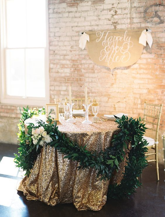 Sweetheart Table - via southernweddings.com