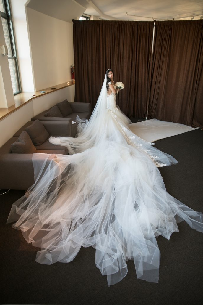 Sophia & Sam Wedding - Bride - Tribeca 360 NYC - by Shira Weinberger