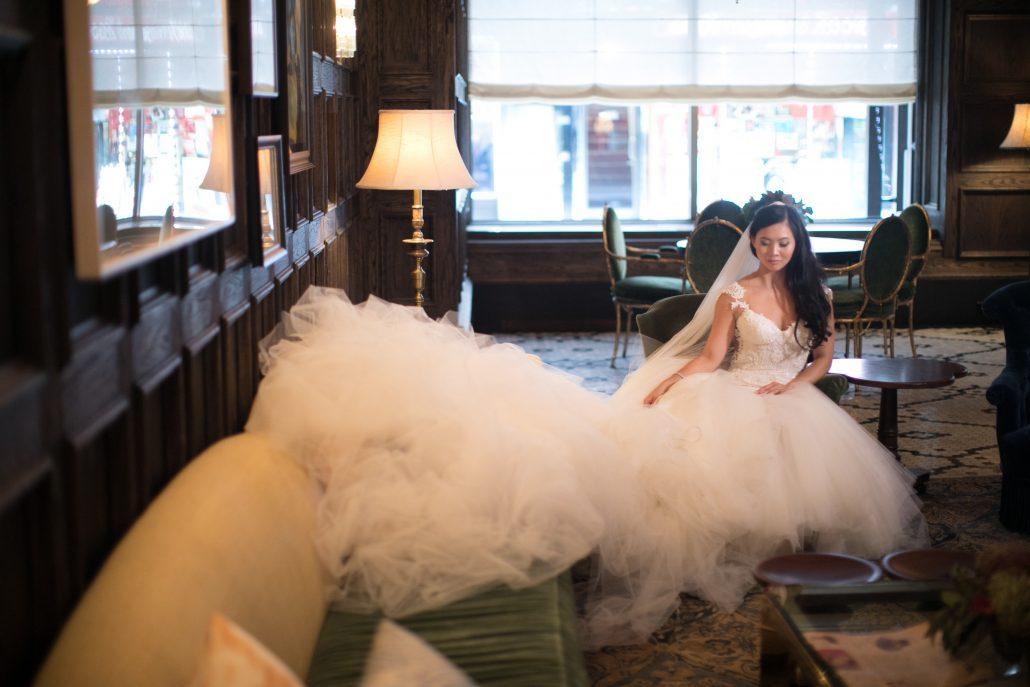 Sophia & Sam Wedding - Bride - Tribeca 360 NYC - by Shira Weinberger