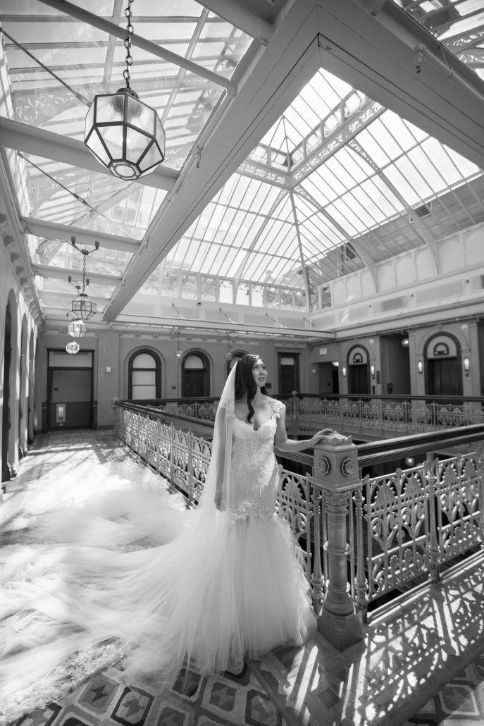 Sophia & Sam Wedding - Bride Portrait - Tribeca 360 NYC - by Shira Weinberger