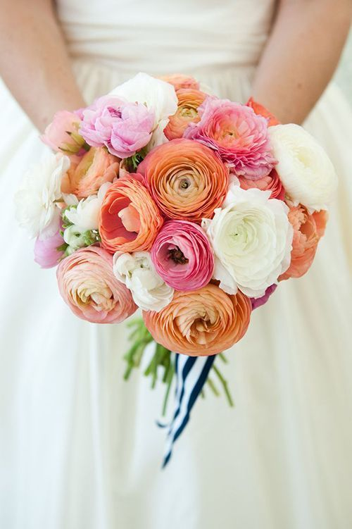 ranunculus wedding bouquet - via brides.com