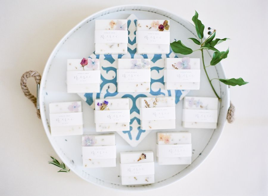 Wedding Soap Favors - via stylemepretty.com