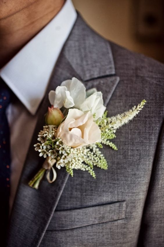 Sweet Pea Rose Boutonniere - via floretcadet.com