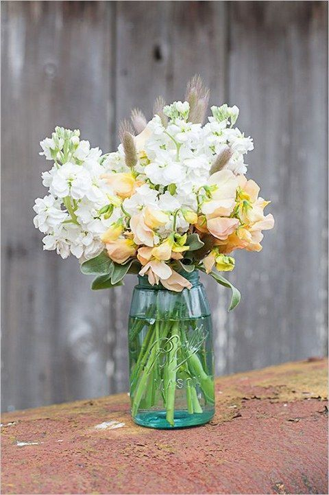 Sweet Pea Centerpiece - via brides.com