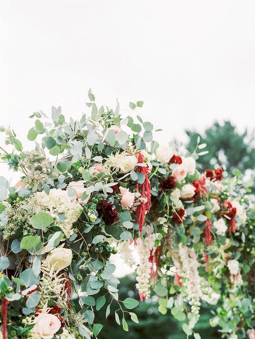 Kate & Chase Wedding - Wedding Arch Detail - Mansion at Natirar - by Sally Pinera