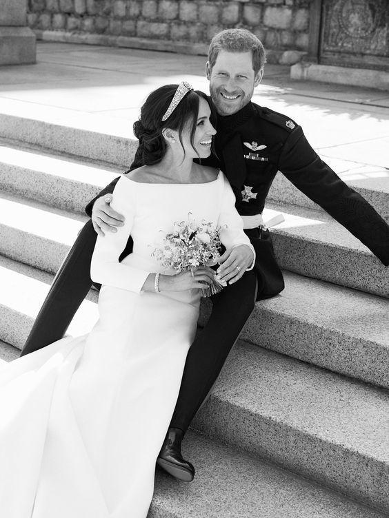 Meghan Markle & Prince Harry Wedding Portrait - Photo by Alexi Lubomirski - via vogue.com