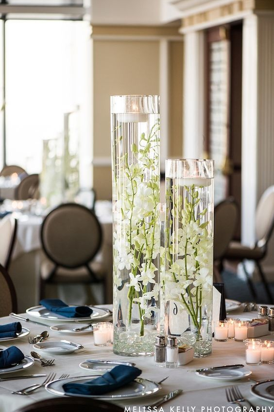 submerged dendrobium orchid centerpiece - via beautifulblooms.com