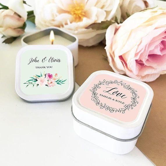 Wedding Favor Candles - via Mod Party on etsy.com