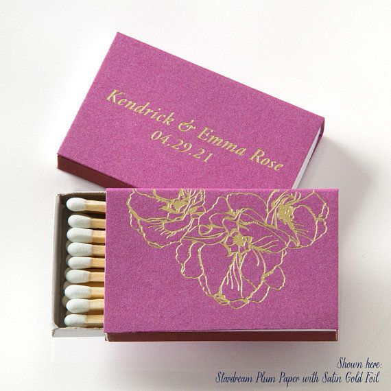 Personalized Wedding Match Box - via Picture Perfect Paper on etsy.com