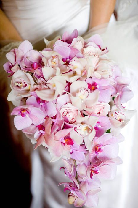 cymbidium orchid bouquet - via pinterest.com