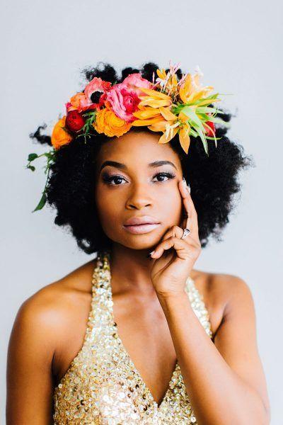 Colorful Floral Crown - via apracticalwedding.com