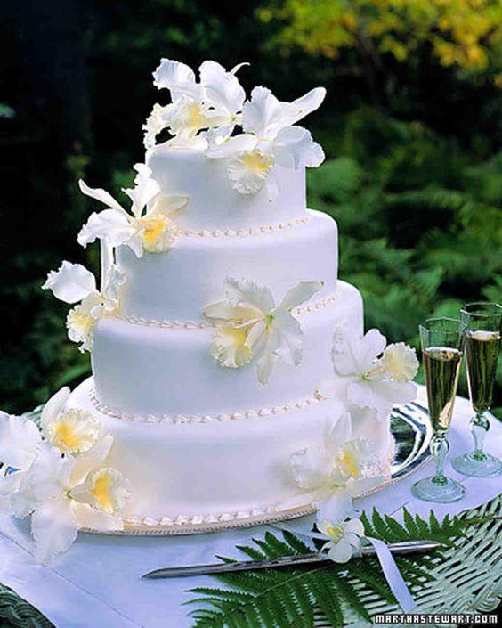 cattleya wedding cake - via marthastewartwedings.com