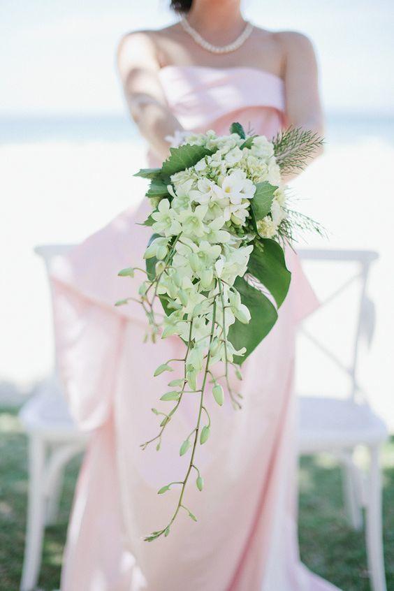white dendrobium orchid bouquet - via pinterest.com