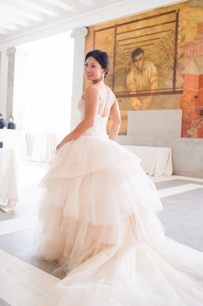 Jean & Bryan Wedding - Bride - Bronx Post Office - by Karen Wise