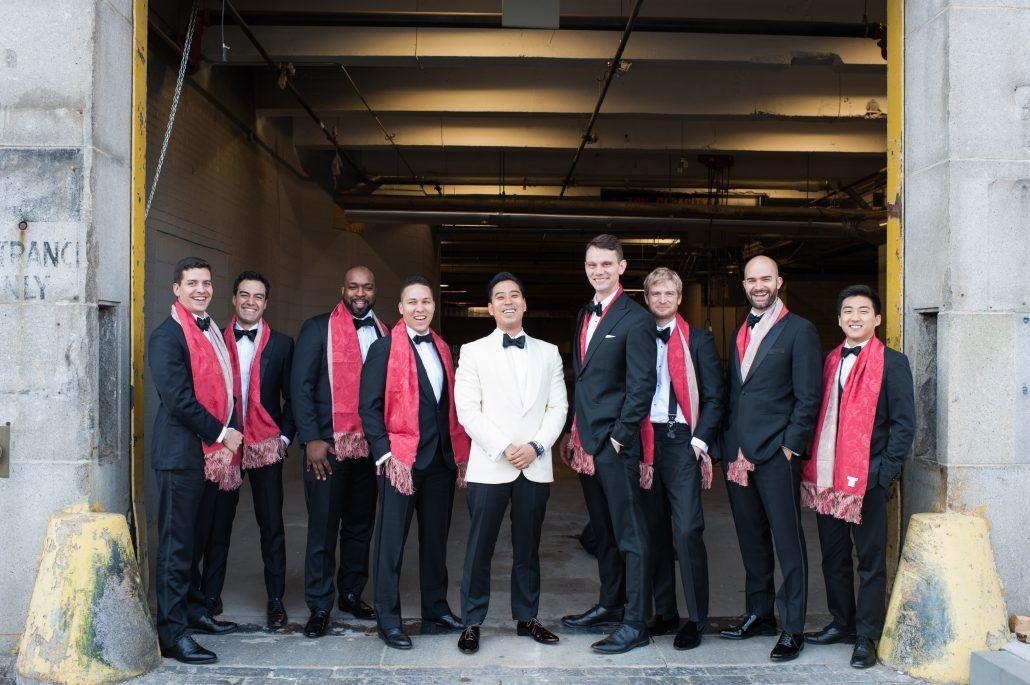 Jean & Bryan Wedding - Groom & Groomsmen - Bronx Post Office - by Karen Wise