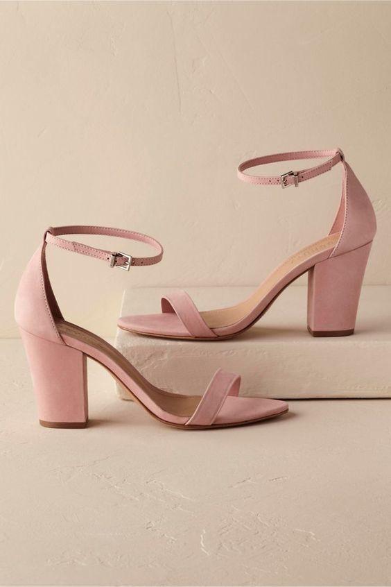 Pink Mid Heel - via bridalmusings.com