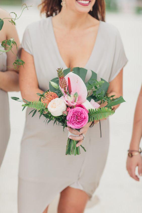Tropical Wedding Bouquet - via ruffledblog.com