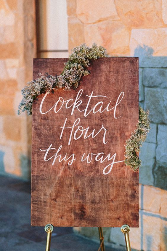 cocktail hour sign - via 100layercake.com