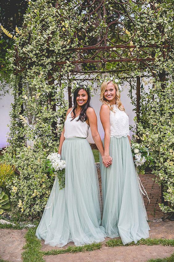 bridesmaids separates - via boho-weddings.com