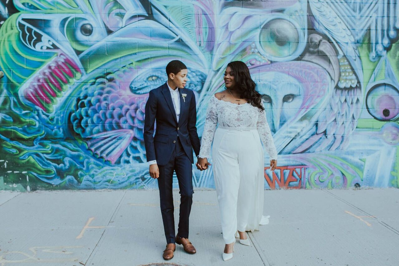 Featured Bride Ashley On Her Fashion-Forward Bridal Suit By Jean ...