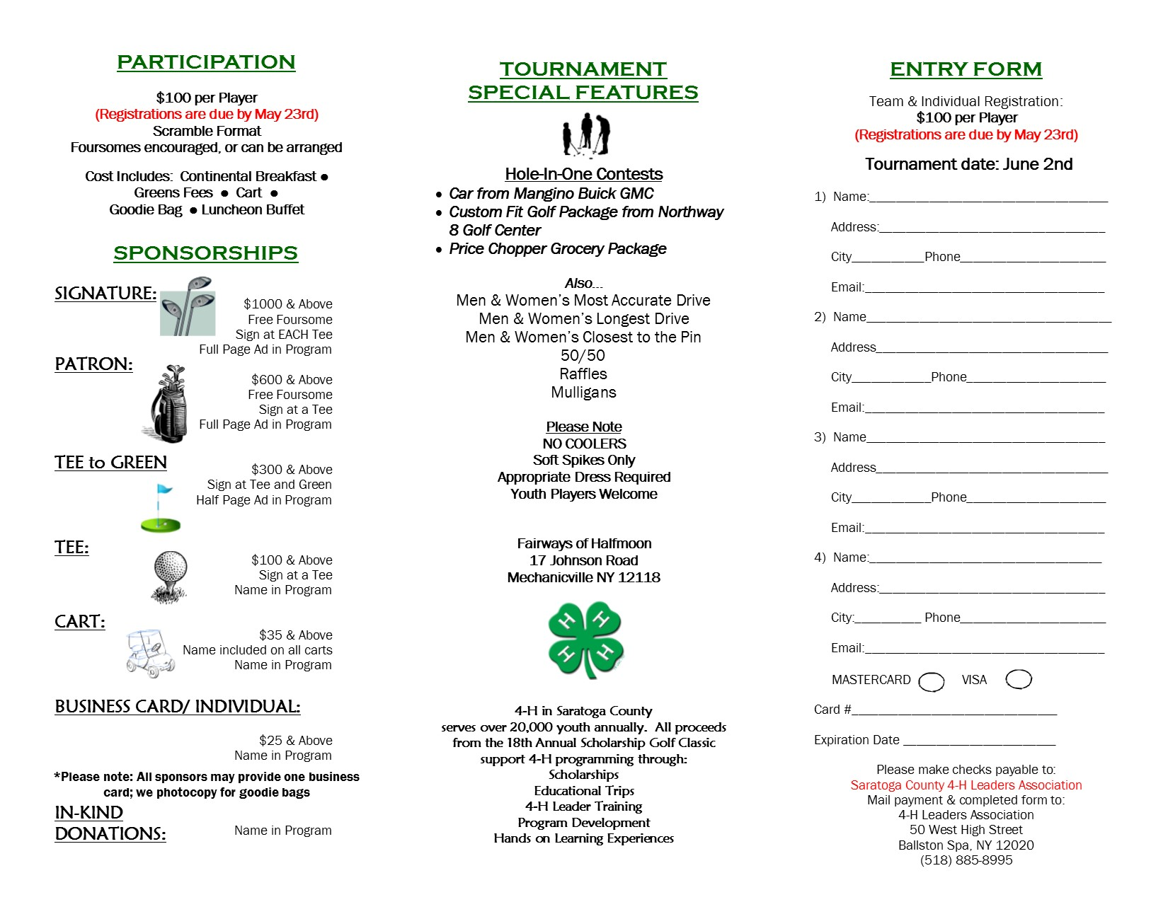 Cornell Cooperative Extension | 19th Annual Scholarship Golf