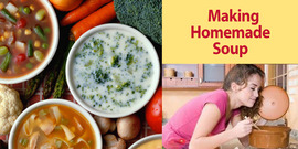 Making homemade soup graphic