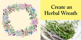 Creating an herbal wreath banner art