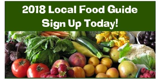 Local food guide banner