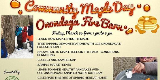 Community maple day firebarn