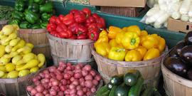 Farmers market foods