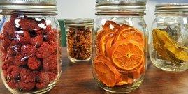 Mason jars fruit dehydrated